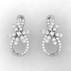 diamond studded gold jewellery - Uma Studs and Tops Earrings - Pristine Fire - 2