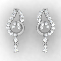 diamond studded gold jewellery - Ania Drops and Danglers Earrings - Pristine Fire - 2