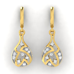 diamond studded gold jewellery - Anna Bali Earrings - Pristine Fire - 2