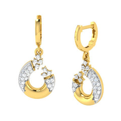 diamond studded gold jewellery - Anne Bali Earrings - Pristine Fire - 1