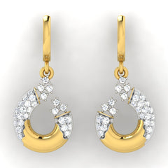 diamond studded gold jewellery - Anne Bali Earrings - Pristine Fire - 2