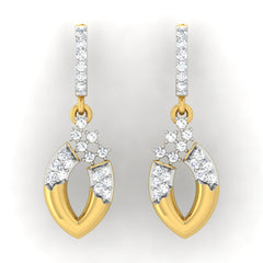 diamond studded gold jewellery - Anya Bali Earrings - Pristine Fire - 2
