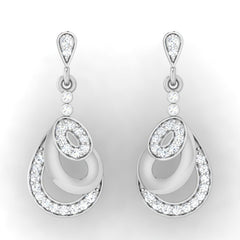diamond studded gold jewellery - Aria Drops and Danglers Earrings - Pristine Fire - 2