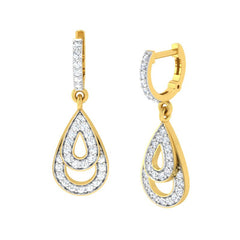 diamond studded gold jewellery - Arla Bali Earrings - Pristine Fire - 1