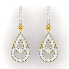 diamond studded gold jewellery - Arla Bali Earrings - Pristine Fire - 2