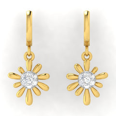 diamond studded gold jewellery - Arti Bali Earrings - Pristine Fire - 2