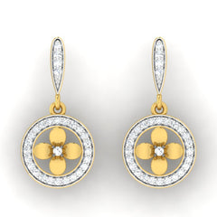 diamond studded gold jewellery - Aryn Drops and Danglers Earrings - Pristine Fire - 2