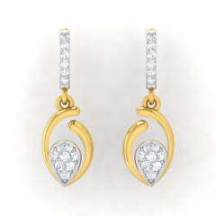 diamond studded gold jewellery - Avis Bali Earrings - Pristine Fire - 2