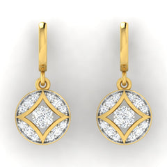 diamond studded gold jewellery - Azia Bali Earrings - Pristine Fire - 2