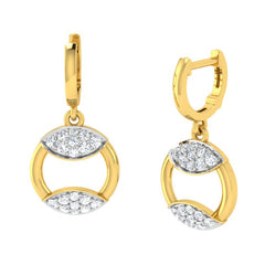 diamond studded gold jewellery - Azul Bali Earrings - Pristine Fire - 1