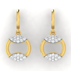 diamond studded gold jewellery - Azul Bali Earrings - Pristine Fire - 2