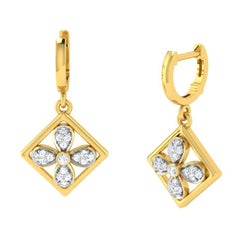 diamond studded gold jewellery - Bess Bali Earrings - Pristine Fire - 1