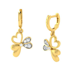 diamond studded gold jewellery - Beth Bali Earrings - Pristine Fire - 1