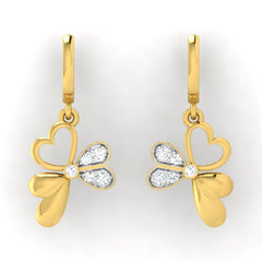 diamond studded gold jewellery - Beth Bali Earrings - Pristine Fire - 2