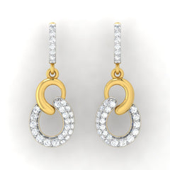 diamond studded gold jewellery - Cher Bali Earrings - Pristine Fire - 2
