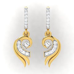 diamond studded gold jewellery - Cloe Bali Earrings - Pristine Fire - 2