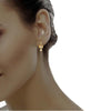 diamond studded gold jewellery - Demi Drops and Danglers Earrings - Pristine Fire - 4