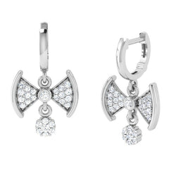 diamond studded gold jewellery - Dior Bali Earrings - Pristine Fire - 1
