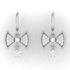diamond studded gold jewellery - Dior Bali Earrings - Pristine Fire - 2