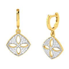 diamond studded gold jewellery - Dora Bali Earrings - Pristine Fire - 1