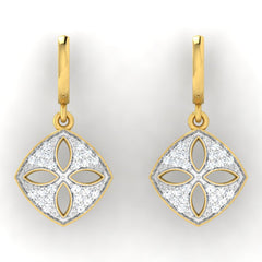 diamond studded gold jewellery - Dora Bali Earrings - Pristine Fire - 2