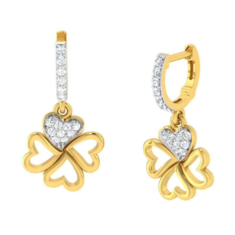 diamond studded gold jewellery - Eden Bali Earrings - Pristine Fire - 1