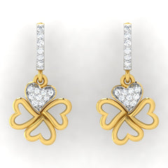 diamond studded gold jewellery - Eden Bali Earrings - Pristine Fire - 2