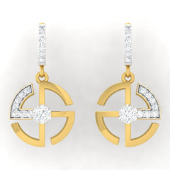 diamond studded gold jewellery - Ella Bali Earrings - Pristine Fire - 2
