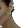 diamond studded gold jewellery - Elma Bali Earrings - Pristine Fire - 4
