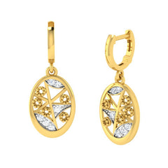 diamond studded gold jewellery - Fawn Bali Earrings - Pristine Fire - 1