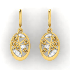 diamond studded gold jewellery - Fawn Bali Earrings - Pristine Fire - 2