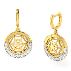 diamond studded gold jewellery - Faye Bali Earrings - Pristine Fire - 1