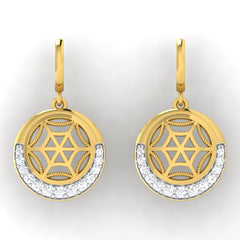 diamond studded gold jewellery - Faye Bali Earrings - Pristine Fire - 2