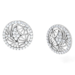 diamond studded gold jewellery - Gaby Studs and Tops Earrings - Pristine Fire - 1