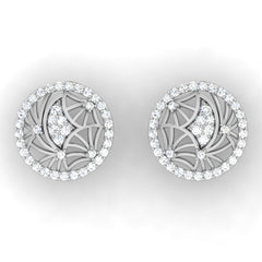diamond studded gold jewellery - Gaby Studs and Tops Earrings - Pristine Fire - 2