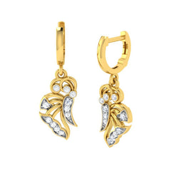 diamond studded gold jewellery - Gail Bali Earrings - Pristine Fire - 1