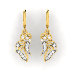 diamond studded gold jewellery - Gail Bali Earrings - Pristine Fire - 2