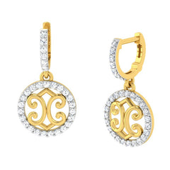 diamond studded gold jewellery - Gina Bali Earrings - Pristine Fire - 1