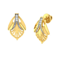 diamond studded gold jewellery - Ultima Stud Earrings - Pristine Fire - 1