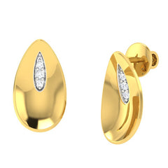 diamond studded gold jewellery - Whitley Stud Earrings - Pristine Fire - 1