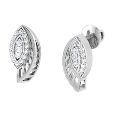 diamond studded gold jewellery - Yamary Stud Earrings - Pristine Fire - 1