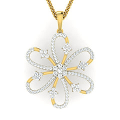 diamond studded gold jewellery - Taneka Fashion Pendant - Pristine Fire - 2