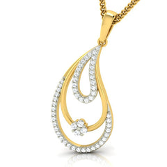 diamond studded gold jewellery - Naomi Casual Pendant - Pristine Fire - 1