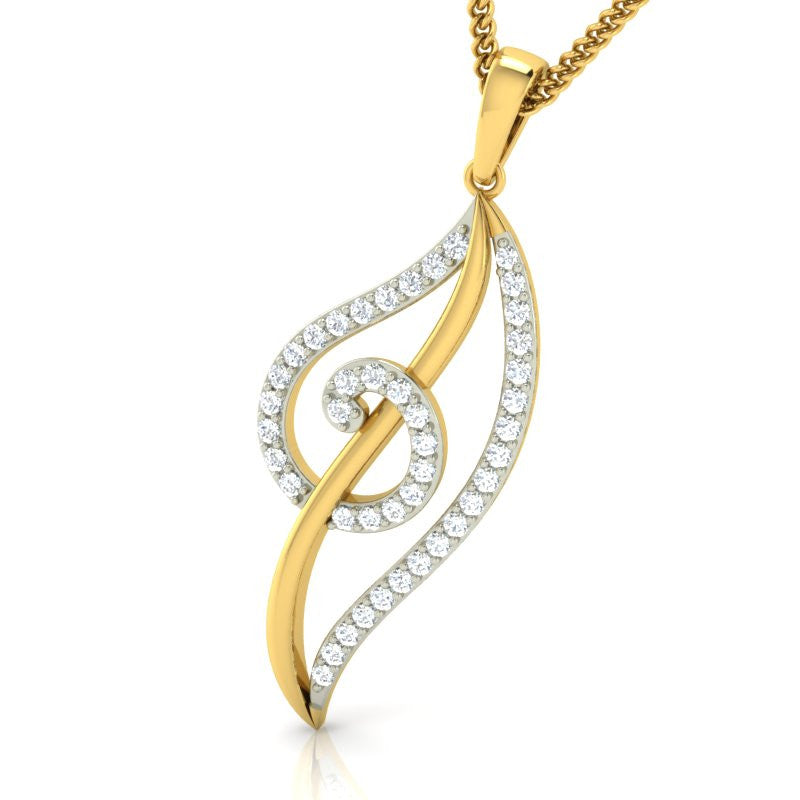 diamond studded gold jewellery - Ekene Casual Pendant - Pristine Fire - 1