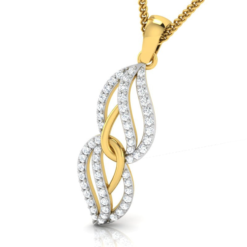diamond studded gold jewellery - Sara Casual Pendant - Pristine Fire - 1
