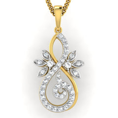 diamond studded gold jewellery - Frøya Casual Pendant - Pristine Fire - 2