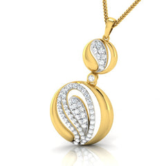 diamond studded gold jewellery - Chantale Fashion Pendant - Pristine Fire - 1