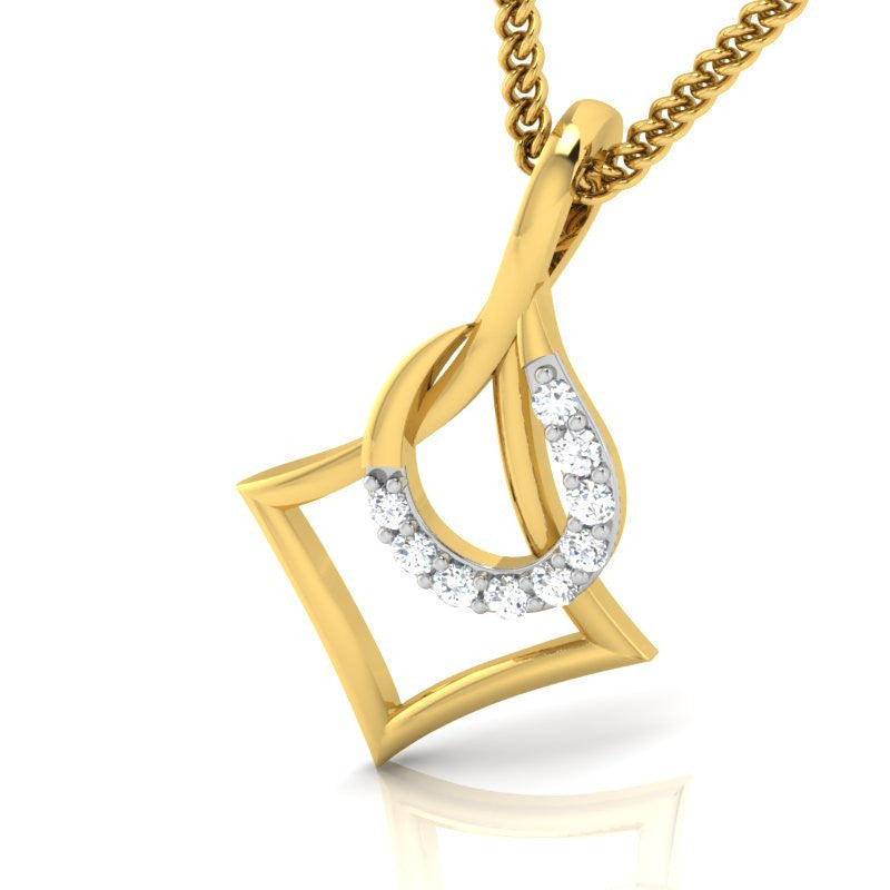 diamond studded gold jewellery - Andree Ann Casual Pendant - Pristine Fire - 1