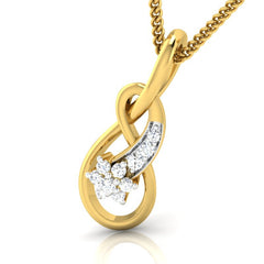 diamond studded gold jewellery - Karolanne Casual Pendant - Pristine Fire - 1