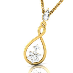 diamond studded gold jewellery - Oportuna Casual Pendant - Pristine Fire - 1